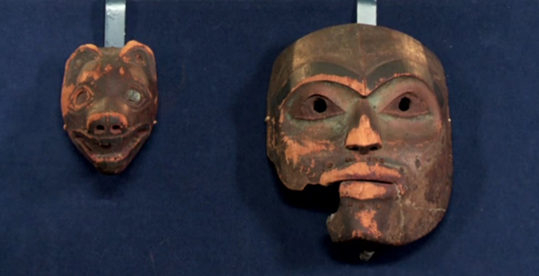 The Tlingit masks. (PBS Antiques Roadshow image.)