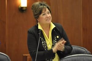 Rep. Lynn Gattis on the House floor, Feb 26, 2014. (Photo by Skip Gray/Gavel Alaska)