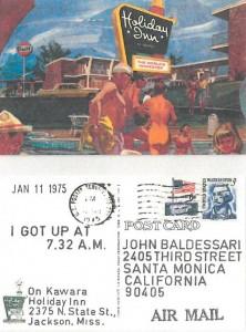 On Kawara Holiday Inn Postcard