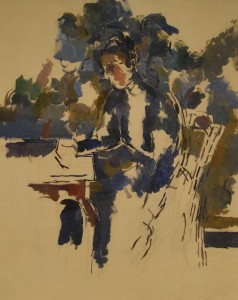 Portrait of Madame Cezanne (oil sketch on canvas c. 1895)