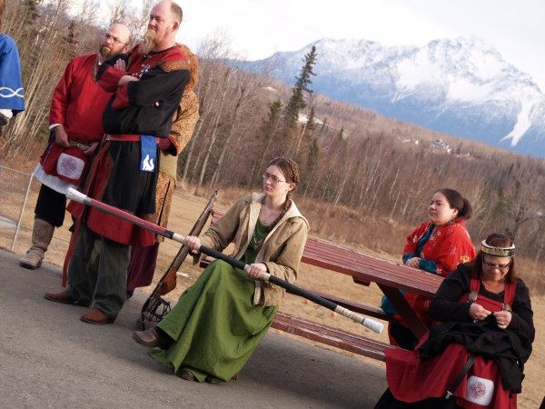 SCA members watch a sword fight. (Photo by Shady Grove Oliver, KBBI - Homer)
