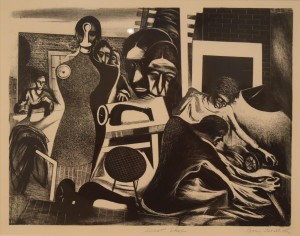 Sweat Shop by Boris Gorelick (lithograph 1938)