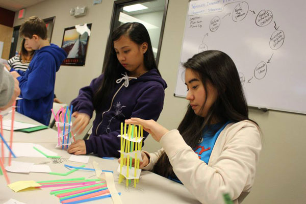 A Voyage to Excellence short term residential program introduces students to the engineering process during a February Tsunami Shelter Challenge. (Photo courtesy Voyage to Excellence)