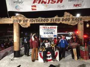 Dallas Seavey has won the 2015 Iditarod. (Photo via KNOM)