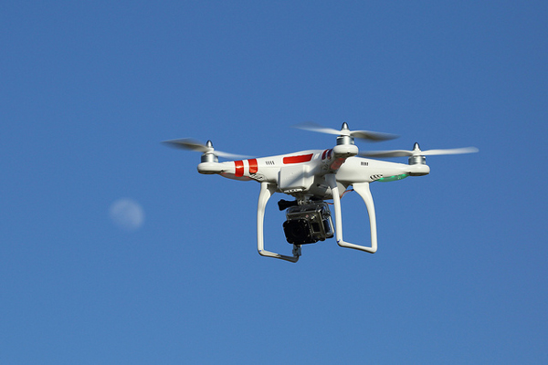 Not all drones are alike. This unmanned aircraft — now banned by the Board — is just large enough to carry a camera. (Flickr photo/Don McCullough)