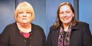 School Board Seat G candidates Starr Marsett (L) and Elisa Snelling (R).
