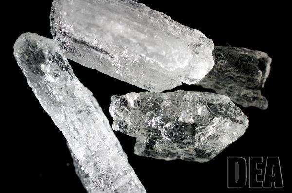 Methamphetamine. (Photo via dea.gov)