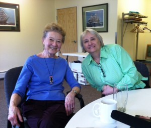 Retirement Community of Fairbanks President Karen Parr, left, and Susan Motter, Raven Landing general manager. Credit Tim Ellis/KUAC