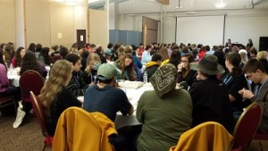 Students across Alaska gather in Kodiak for Youth Court training conference. (Photo by Kayla Desroches/KMXT)