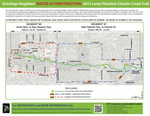 Chester Creek Trail To Close This Summer for Repaving