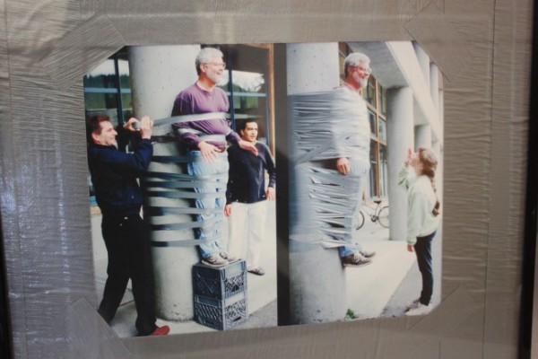 When he was a dean, John Pugh was duct taped to a library pillar for a student fundraiser.