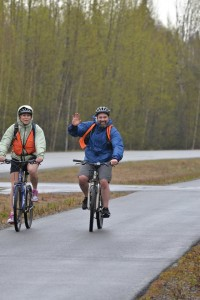 Bikers on the Clean Air Challenge route. Photo courtesy of ALA.