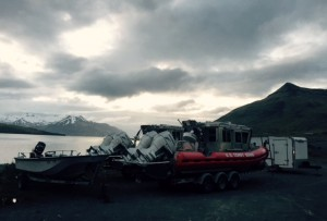 Because the Coast Guard anticipates heightened marine traffic, two 25-foot response boats will patrol waters off the coast of Dutch Harbor this summer. (Emily Schwing/KUCB)