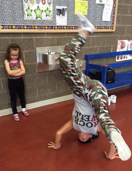 Brianna McMillen shows off her breaking skills. Hillman/KSKA