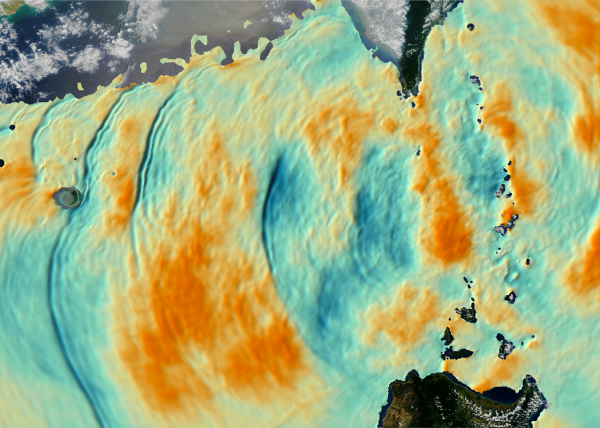 Simulation of internal waves of the South China Sea by Dr. Harper Simmons of the University of Alaska Fairbanks using Arctic Region Supercomputer Center (ARSC) High Performance Computing resources. Visualization by the University of Washington Center for Environmental Visualization (CEV).