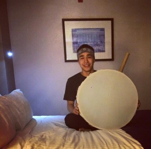 Byron Nicholai with drum. -Photo courtesy of Byron Nicholai.