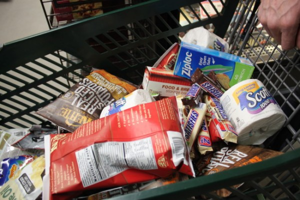 Borge Ousland's shopping cart. (Photo by Lisa Phu/KTOO)