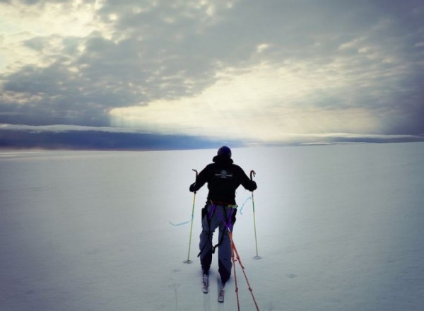 A photo from the duo's trip across a glacier in Svalbard, Norway. (Photo from icelegacy.com)