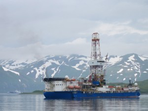 Shell's Noble Discoverer in Unalaska in 2012. (KUCB-Unalaska file photo)