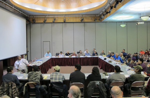 The Kuskokwim River Inter Tribal Fisheries Commission met for the first time in Bethel. Photo by Ben Matheson / KYUK.