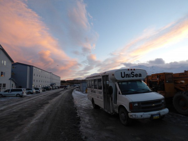 UniSea runs the biggest processing complex in Unalaska. (Annie Ropeik/KUCB)
