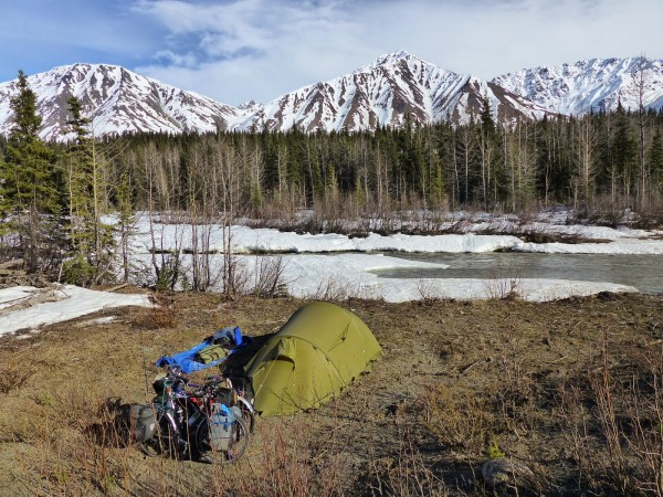 Christian and Patricia Sterrett are on a round-the-world bike tour. We caught them just after they landed in Alaska. For more on their journey, check out their blog: http://avelotoutsimplement.blogspot.com/.