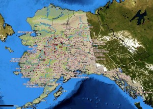 At the end of June, much of Alaska was afflicted by wildfire. Credit: Alaska Interagency Coordination Center's map of active wildfires.