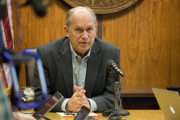 Gov. Bill Walker on April 18. 2015. (Photo by Jeremy Hsieh/KTOO)