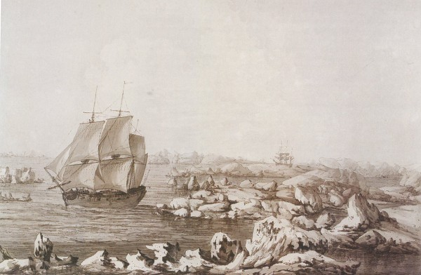 John Webber's The Resolution Beating Though the Ice, 1778