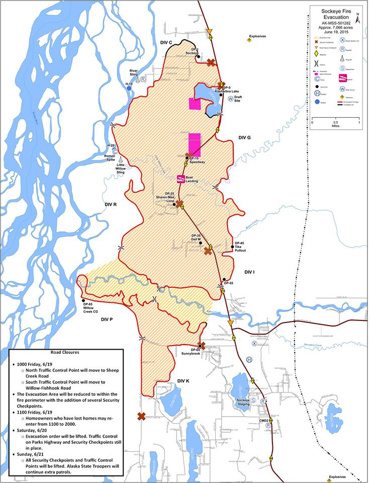 Sockeye evac map