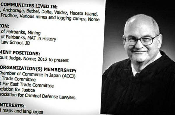Picture and brief résumé of Nome Superior Court Judge Timothy Dooley. Image, text: Alaska Department of Law.