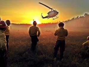 Baker River Hotshots on-scene at Montana Creek East fire Tuesday night. (Photo courtesy Baker River Hotshots)