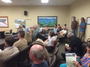 Residents wait to hear Northern Edge Presentation at City Hall - Photo by Quinton Chandler/KBBI