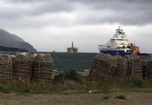 The Polar Pioneer drill rig arrives in Dutch Harbor. (Photo by Emily Schwing, KUCB - Unalaska)