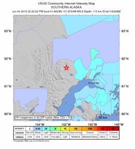 5.8-Magnitude Quake Rattles Mainland Alaska