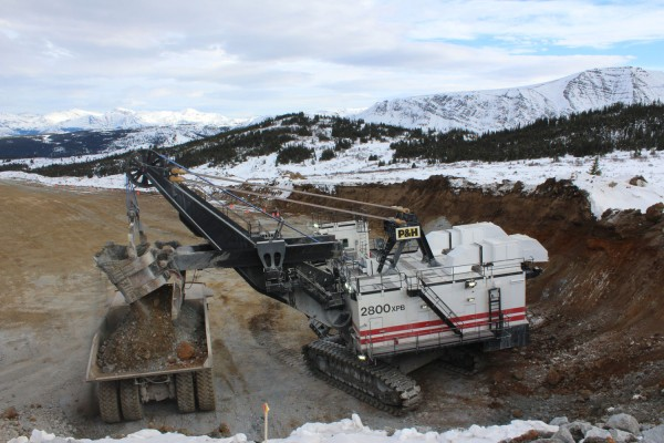 Mining at Red Chris in February 2015. (imperialmetals.com)
