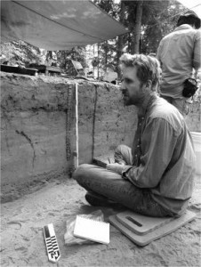 Josh Reuther at an archeological dig in Alaska. (CREDIT UAF)