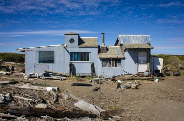 Permanent structures, like the cabin owned by Ian Foster (above), on Nome's West Beach constitute a hazard and liability according to city officials. Photo: Francesca Fenzi