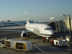 Alaska Airlines jet. Photo shared via Wikimedia Commons.