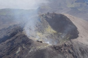 Crater of Cleveland Volcano in July 2014. Pavel Izbekov, Alaska Volcano Observatory / University of Alaska Fairbanks photo.