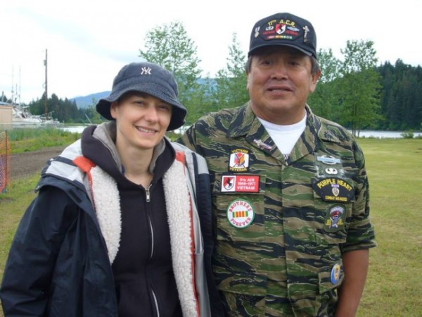 Farinella and Hoonah veteran George Lindoff. (Photo courtesy Samantha Farinella)