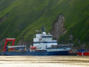 Shell's Fennica vessel. Photo: John Ryan/KUCB.