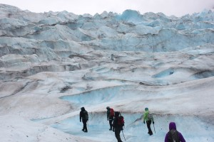 Thirteen educators participated in Discovery Southeast's Teacher Expedition on the Mendenhall Glacier. (Photo by Lisa Phu/KTOO)
