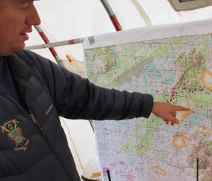 Incident Commander Keith Dunn oversees several middle Kuskokwim fires. (Photo by Ben Matheson, KYUK - Bethel)