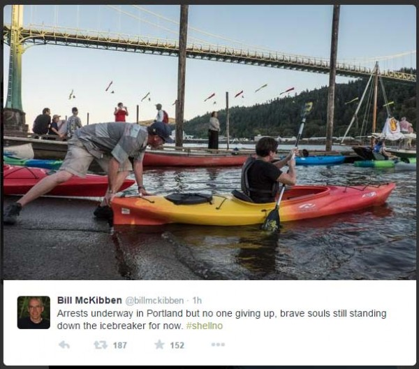 Protesters are using the Twitter handle #ShellNo to spread news about the movement.