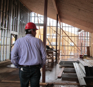 Kris Manke walks through the new PATC. (Photo by Ben Matheson, KYUK - Bethel)