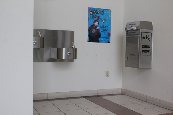The RX Drug Drop is located in the lobby of the Juneau Police Department. Prescription medication is welcome. Needles and liquids are not. (Photo by Elizabeth Jenkins/KTOO)