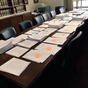 The Senate Energy panel considered stacks of amendments. (Photo: Senate staff, via Twitter.)