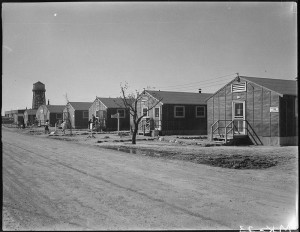 A view of the Minidoka internment camp's flimsy, tar-papered housing barracks. PHOTO: U.S. DEPARTMENT OF THE INTERIOR