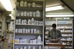 Adam Nelson says people inquire once or twice a week what to do with leftover prescription drugs. (Photo by Elizabeth Jenkins/KTOO)